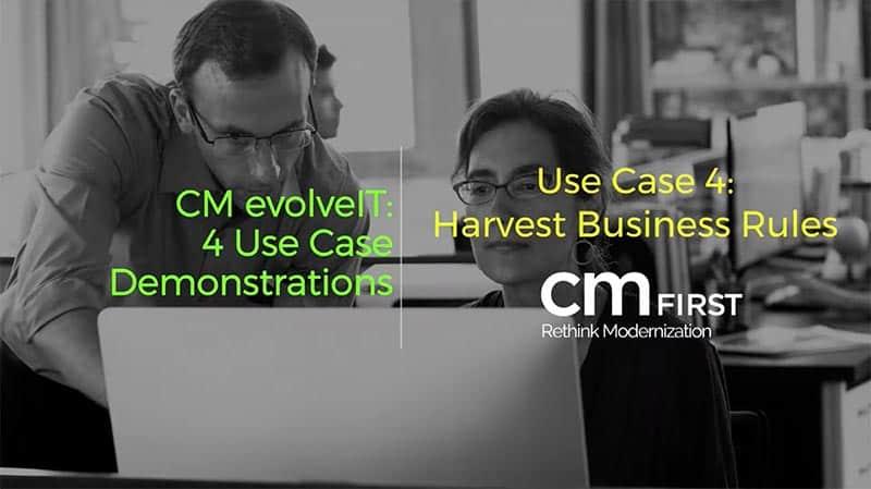 CM evolveIT Use Case 4: Harvest Business Rules